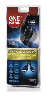 Cable 3 Metros Hdmi Y Micro-hdmi 3d 4x Full Hd 1920x1080
