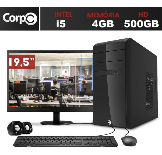 Computador Pc Cpu Completo Intel Core I5 4gb 500gb Monitor