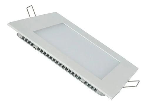 Imagen 1 de 9 de Panel Plafon Led Cuadrado 24w Embutir Blanco Frio Ahorro 80%