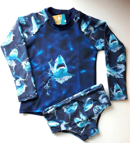 Camisa Blusa Sunga Proteção Solar Uv 50 Infantil Masculino