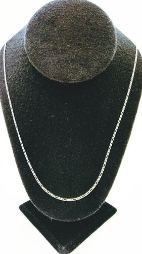 Cadena Plata Fina 925 Dama Tejido 3*1 Para Mujer 60cm