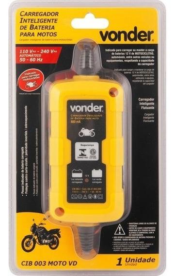 Carregador Inteligente Bateria Bivolt +bolsa Moto Vonder 12v