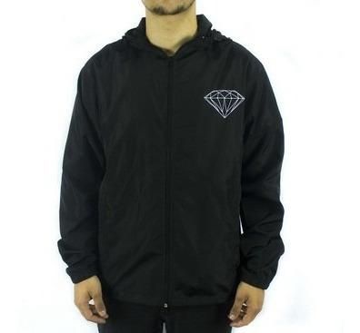 Jaqueta Windbreaker Corta-vento Diamond Brilliant Black