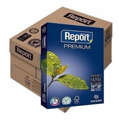 Kit C/ 4 Resmas De Papel A4 Suzano Report Premium
