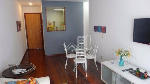 Apartamento Com 1 Dormitório À Venda, 56 M² Por R$ 380.000,00 - Boa Viagem - Niterói/rj - Ap0464