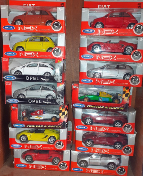 Autos Coleccion Metal Escala 1/36 Welly X 6 Unidades