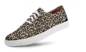 Tênis Usthemp Volare Vegano Casual Estampa Leopard