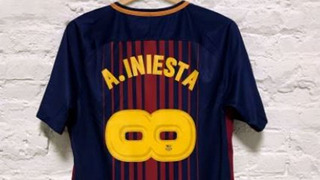 Camisa Barcelona 2017 A. Iniesta #8 Infinito