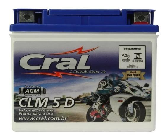 Bateria Cg Titan Fan 125 150 Cral Moto 5ah Yuasa Ytx5l Bs