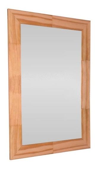 Espejo Reflejar Finger Baño Marco Madera 59x39 Sin Interes