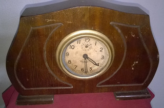 Antiguo Reloj Suizo De Mesa A Cuerda Funcionando