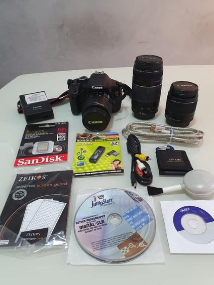Câmera Canon T3i + Lentes E Acessórios