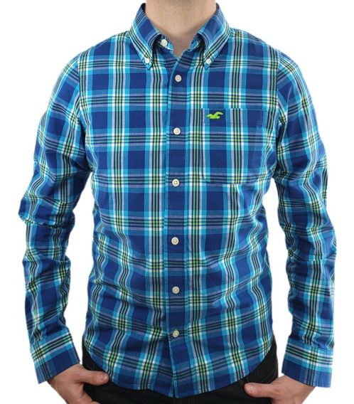 Camisa Hollister Xadrez Original - Modelo Country I I I - Ecominove Outlet