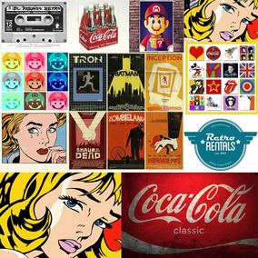 Pack Vetores Imagens Posters Fontes Vintage Retrô - Promoção