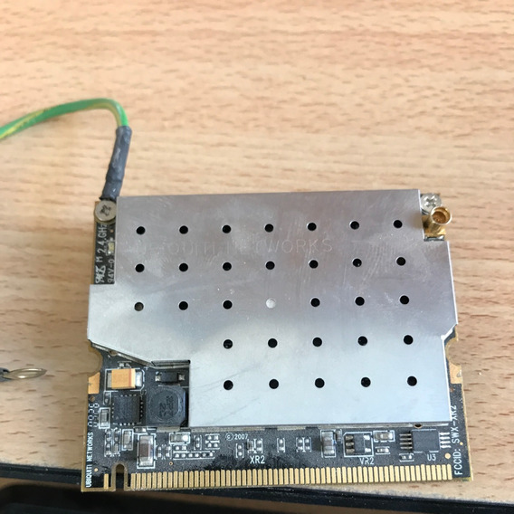 Placa Wifi Ubiquiti Xr2 Minipci 600 Mw 2.4 Ghz Conector Mmcx