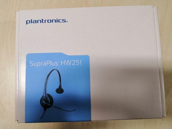 Lote 10pçs Headset Supraplus Hw251 S/ Cabo Qd - Plantronics