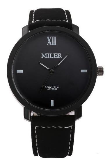 Relógio De Pulso Analógico Masculino Miler A8285-02 Original