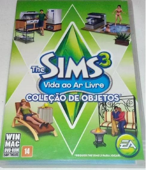 Pc The Sims 3 Vida Ao Ar Livre - Pacote De Objetos- Novo