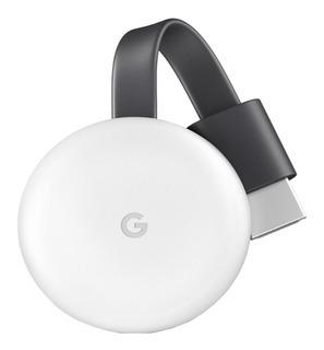 Streaming media player Google Chromecast 3rd Generation tiza con memoria RAM de 512MB
