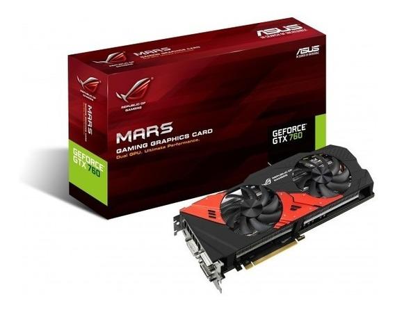 Asus Rog Mars760-4gd5 Geforce Gtx 760x2 4gb 512-bit Gddr5