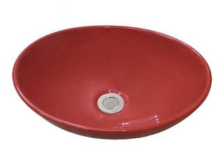 Bacha Baño De Apoyo Aqualia Oval Roja 2122r