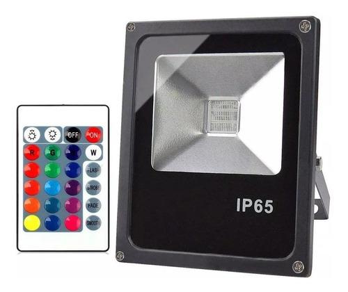 Reflector Foco Rgb Led 30w C/control 16 Colores Unilux