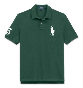 045a8e33fb Camisa Polo Ralph Lauren - Pólos Manga Curta Masculinas Verde escuro ...