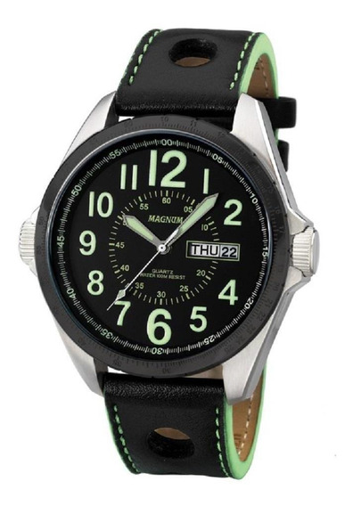 Relógio Magnum Masculino Pulseira Em Couro Ma31604g