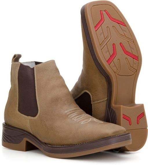 Bota Botina Masculina Country Texana Quadrado Capelli Boots