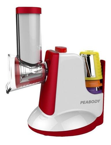 Rallador Electrico Peabody Sm326r Rojo Kit 5 Piezas Nuevo