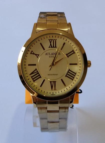 Relógio Feminino Dourado Atlantis Gold G3470