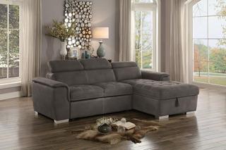 Sofa Cama Seccional 2 Piezas Con Esquinera Y Almacenamiento