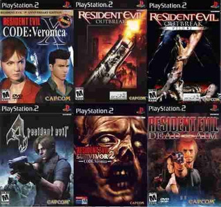 Resident Evil Collection Sony Playstation 2 (6 Discos)