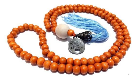 Japamala Budista Ho´oponopono 108 Contas Madeira 8mm + Bag