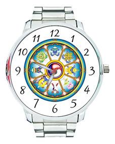 Relógio 8 Símbolos Budismo Auspiciosos Buda Budista Tibetano
