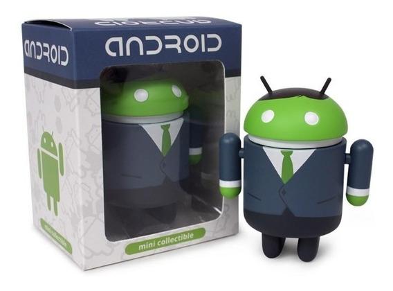 Android Azul Una Figura Coleccionable Big Box Business Man