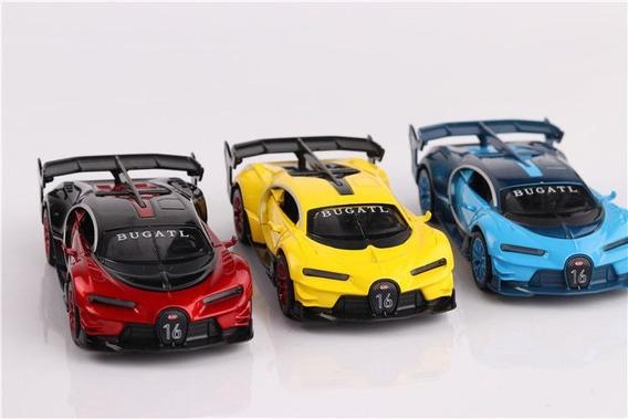 Bugatti Veyron Gt Miniatura Metal Com Luzes & Som Coleção