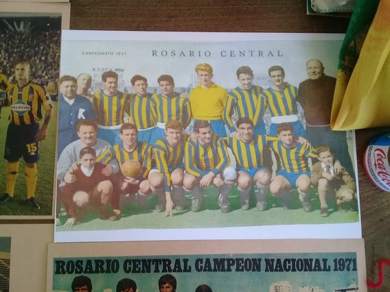 Lote De Mini Posters Rosario Central De Cartón.