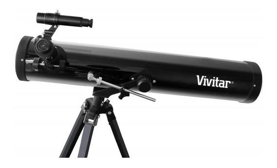 Telescópio Refletor Lente 76mm Ampliação 525x Vivtel76700