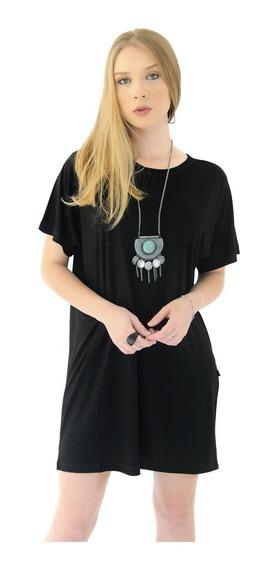 Camiseta Vestido Feminina Viscose