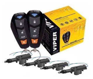 Alarma De Seguridad Viper 3400v + 4 Actuador Seguros