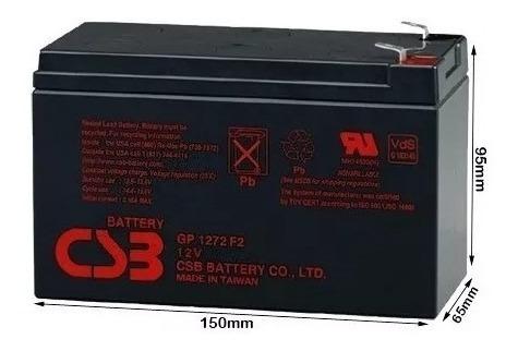 Bateria 12v 7ah Csb Cs3 No Break Sms Apc Alarmes Gp1272 F2