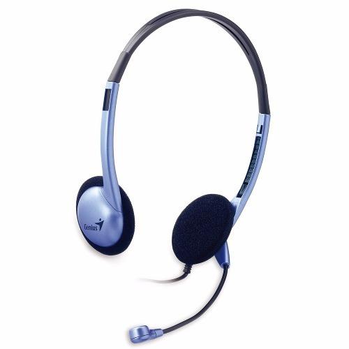 Auricular Headset Vincha Genius Hs 02b Con Microfono Skype