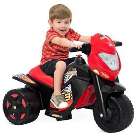 Moto Elétrica Cross El 6v Vermelha/preta 2592- Bandeirante