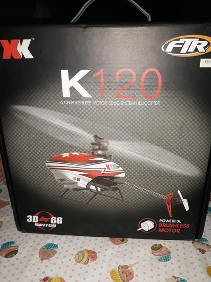 Vendo Helicóptero Xk120 Novo Aperto Apenas Para Teste