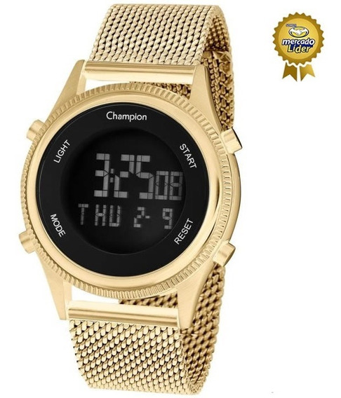 Relógio Champion Feminino Ch48082h Digital Dourado