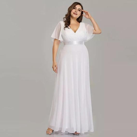 Hermoso Vestido De Fiesta Largo, Madrinas. Talles Grandes