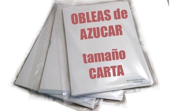 25 Obleas De Azucar, Icing Sheet, Tamaño Carta