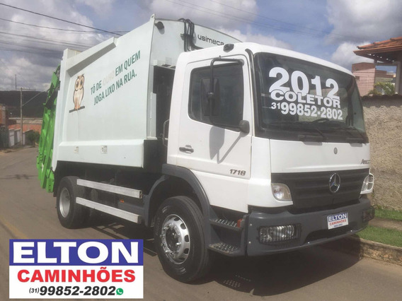 Caminhao Compactador De Lixo Mb 1718 Ano 2012 / 2 Unidades