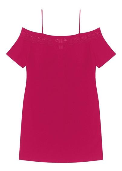 Vestido Crepe Secret - Cor Cereja - 4003